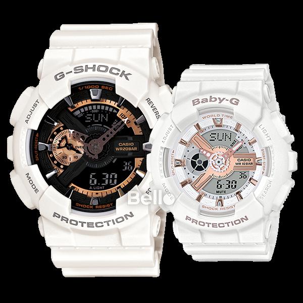 Đồng hồ cặp đẹp GA-110RG-7A và BA-110RG-7A có gì đặc biệt?