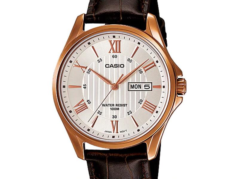 Đồng hồ dây da Casio MTP-1384L-7AV lịch lãm dành cho phái mạnh